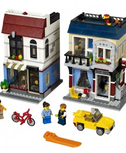 lego bike shop and cafe cycling gift kids