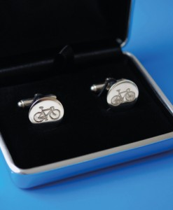 Handmade Silver Bicycle Cufflinks
