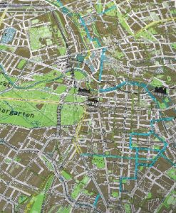 Berlin Cycling Route Wall Map