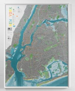 New York City Cycling Route Wall Map