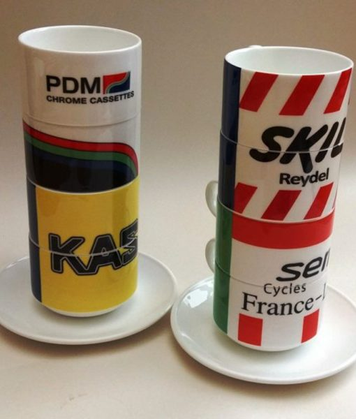 Retro Teams Stacking Cups Set