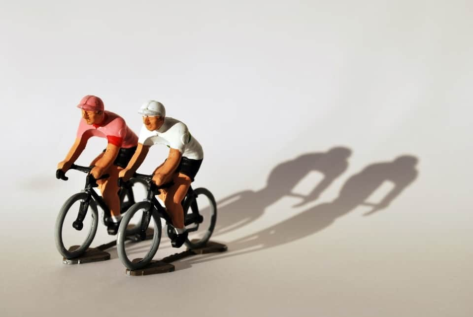Miniature Model Little Cyclists By Fonderie Roger
