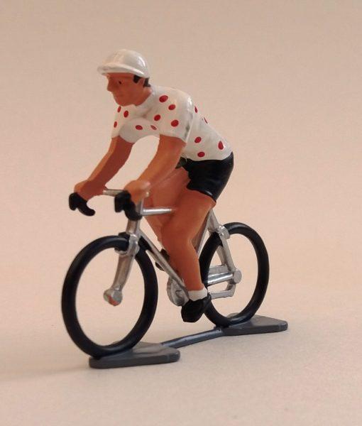 polka dot jersey min cyclist figure