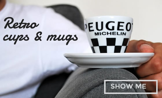 retro cycling coffee tea cups mugs gifts