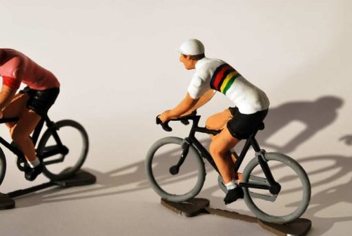 world champion cyclist figurine