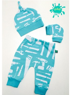 Maebelle & Bo Tool Print Baby Gift Set