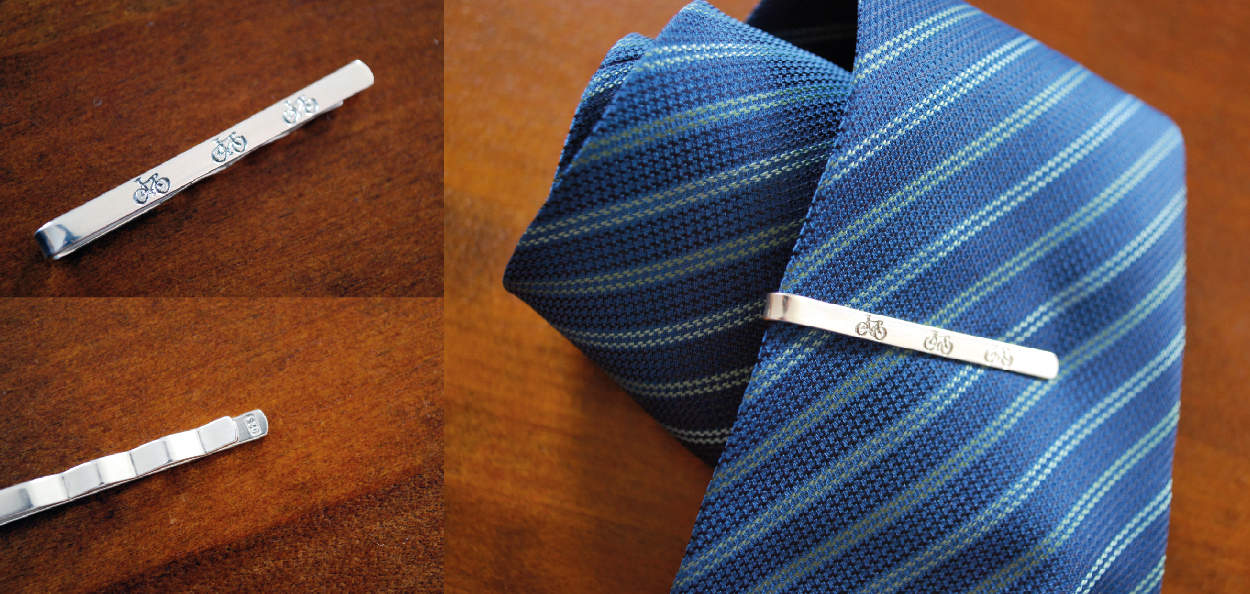 Tie Clips by Cycling Souvenirs