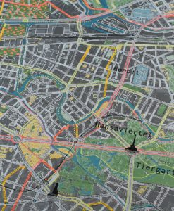 Berlino bicicletta Route Wall mappa