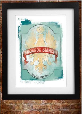 Retro Bianchi Poster