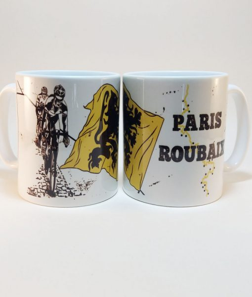 Paris Roubaix Bike Mug