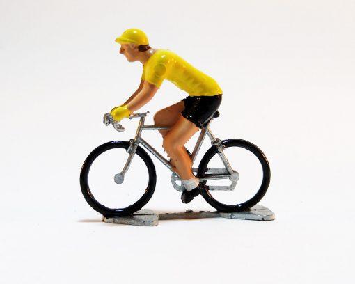 yellow jersey mini cyclist figure