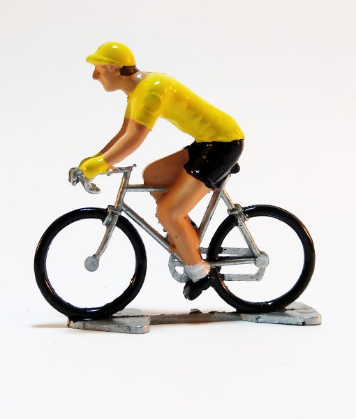 yellow jersey mini cyclist figure