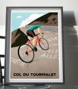 col du tourmalet cycling print