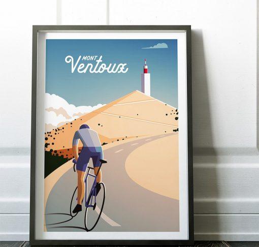 mont ventoux cycling print
