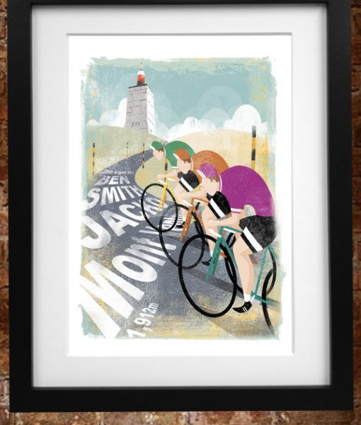 personalised cycling print