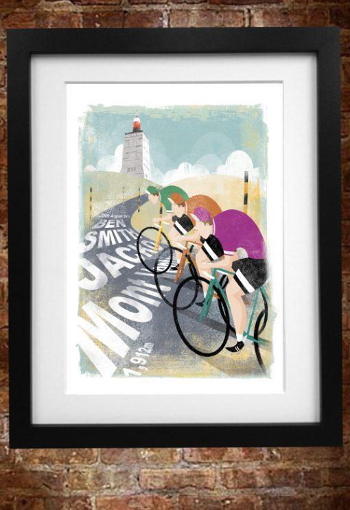 personalised cycling print