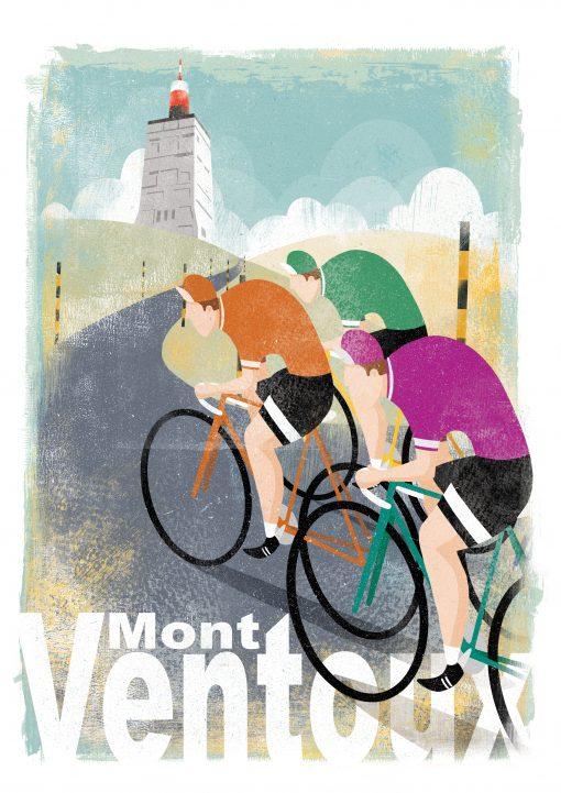 ventoux cyclist print