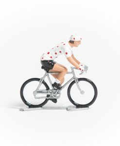 tdf polka dot jersey mini cyclist figurine