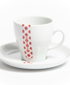 polka dot jersey cappuccino cup