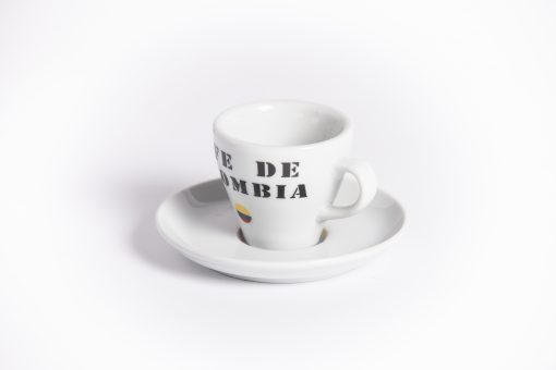 cafe de columbia espresso cup and saucer