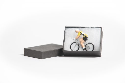 mini cyclist figurine in box