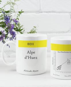alpe d'huez famous climbs mug