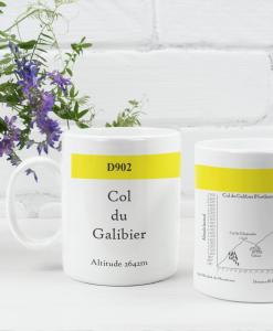 col du galibier famous climbs mug