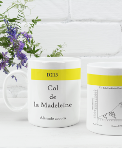 col de la madeleine famous climbs mug