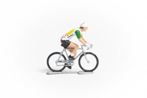 TDF Combined Jersey mini cyclist figurine