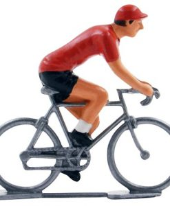 Vuelta Red Jersey mini cyclist figurine