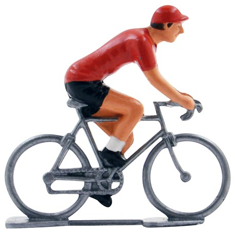 Vuelta Red Jersey mini cyclist figurine