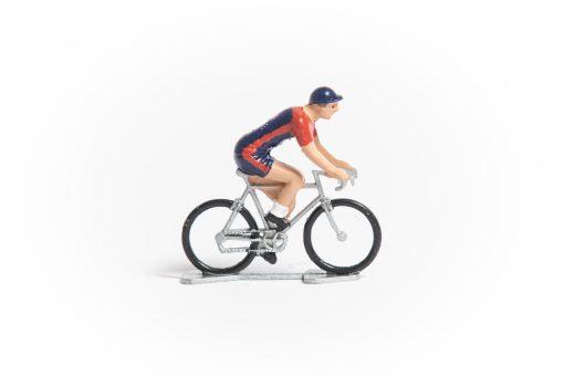 usa mini cyclist figurine
