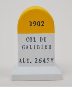 col du galibier handmad road marker