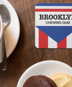 Brooklyn Chewing Gum coaster