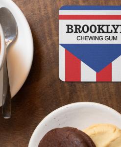 Brooklyn Chewing Gum coaster