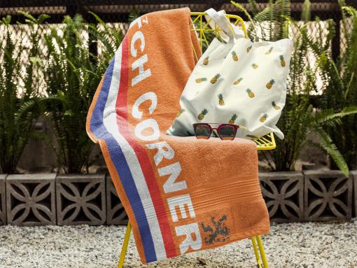 dutch corner beach towel