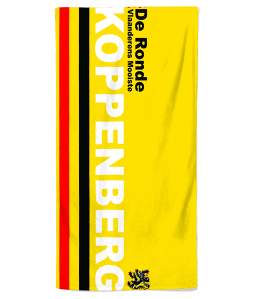 tour of flanders beach towel