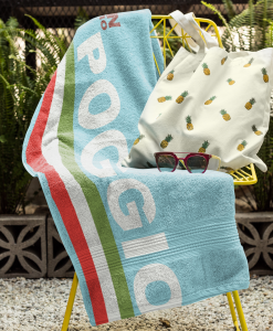 milan san remo towel on chair
