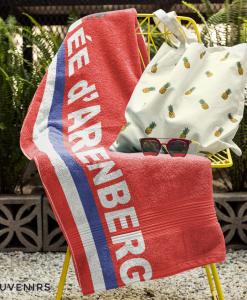 paris roubaix towel on chair