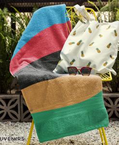 world champ full stripes towel on chair