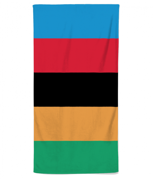 World Champ Stripes beach towel