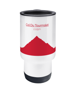 col du tourmalet red travel mug 2