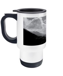 col du tourmalet scenery travel mug