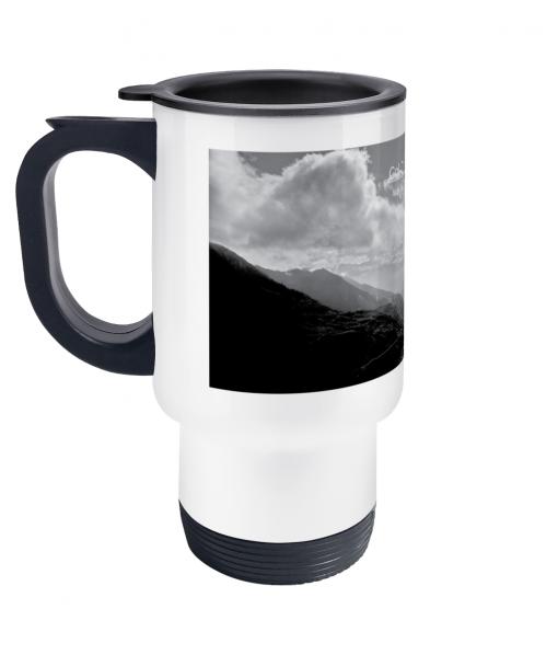 col du tourmalet scenery travel mug