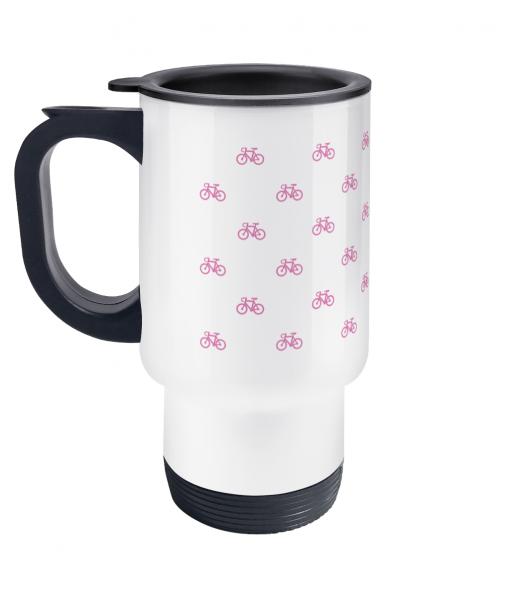 mini bikes pink travel mug