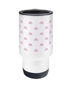 mini bikes pink travel mug 2