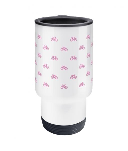 little pink bikes travel mug