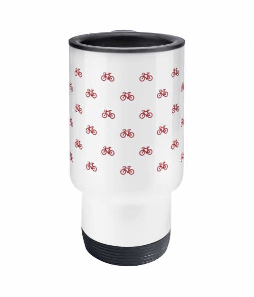 little red bikes thermos mug