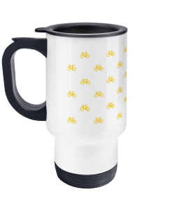 mini bikes yellow travel mug