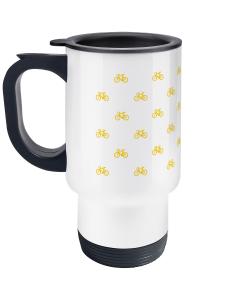 mini bikes yellow travel mug